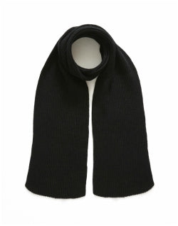 THE IDLE MAN Knitted Scarf Black Mens