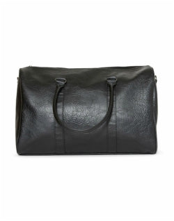 THE IDLE MAN Leather Look Overnight Bag Black Mens