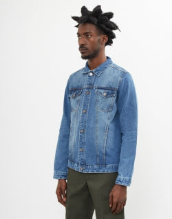 7915ee4973e THE IDLE MAN Lightwash Denim Jacket mens
