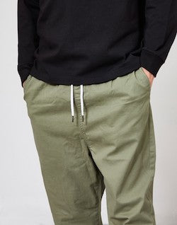 THE IDLE MAN Loose Fit Cropped Chino Green