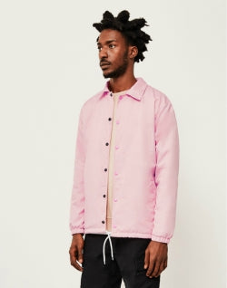 THE IDLE MAN Mens Nylon Coach Jacket Pink