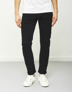 THE IDLE MAN Mens Slim Fit Jeans Black