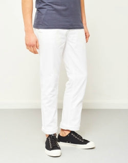 THE IDLE MAN Mens Straight Leg Chino White