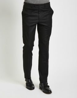 THE IDLE MAN Mens Suit Trousers in Skinny Fit Black