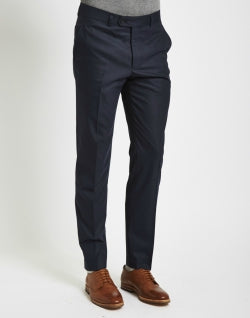 THE IDLE MAN Mens Suit Trousers in Skinny Fit - Navy