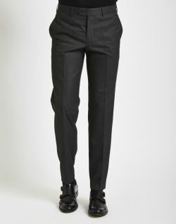 THE IDLE MAN Mens Suit Trousers in Slim Fit Grey