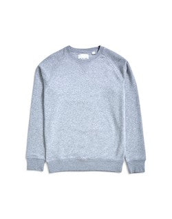 THE IDLE MAN Organic Raglan Sweatshirt Grey