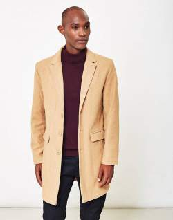 the idle man overcoat camel men