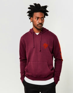 THE IDLE MAN Paradise Hoodie Burgundy mens
