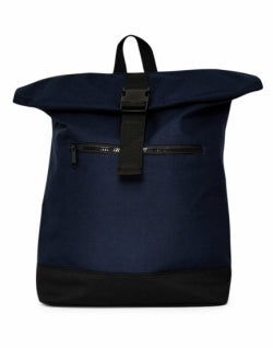 THE IDLE MAN Mens Roll Top Backpack Navy