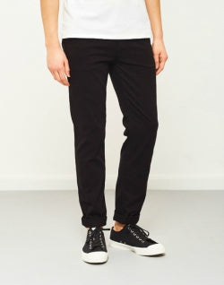 THE IDLE MAN Slim Fit Chino Black mens