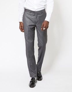 THE IDLE MAN Slim Fit Pure Wool Suit Trousers Grey mens