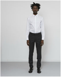 THE IDLE MAN Slim Stretch Shirt White Mens