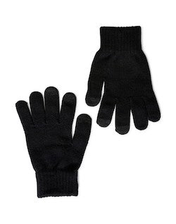 THE IDLE MAN Smart Touch Gloves Black