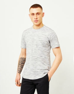 THE IDLE MAN Space Dyed T-Shirt White mens