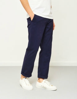 THE IDLE MAN Straight Leg Chino Navy mens