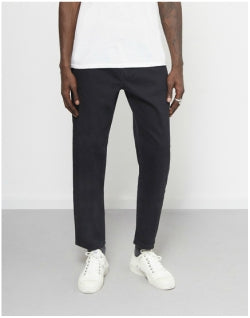 THE IDLE MAN Straight Leg Original Taper Jeans Black Mens