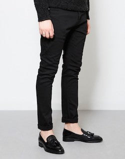 THE IDLE MAN Stretch Skinny Fit Jeans Black