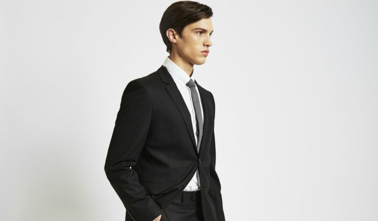 THE IDLE MAN Suit Jacket in Skinny Fit Black lifestyle