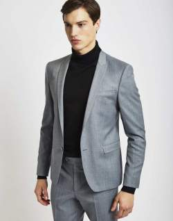 the idle man suit jacket in skinny fit grey men