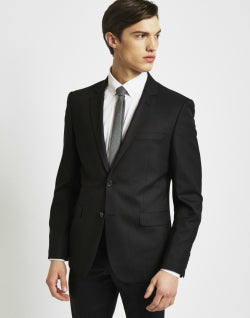 THE IDLE MAN Suit Jacket in Slim Fit Black mens