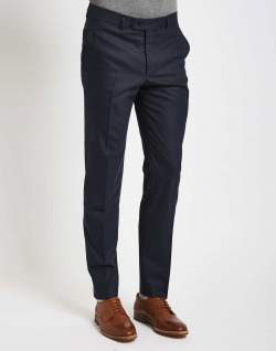 the idle man mens suit trousers in skinny fit navy men