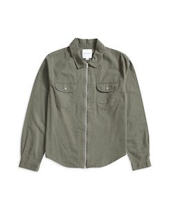 THE IDLE MAN Zip Overshirt Green