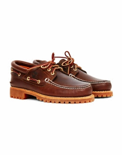 TIMBERLAND Mens Lug Boat Shoes Brown