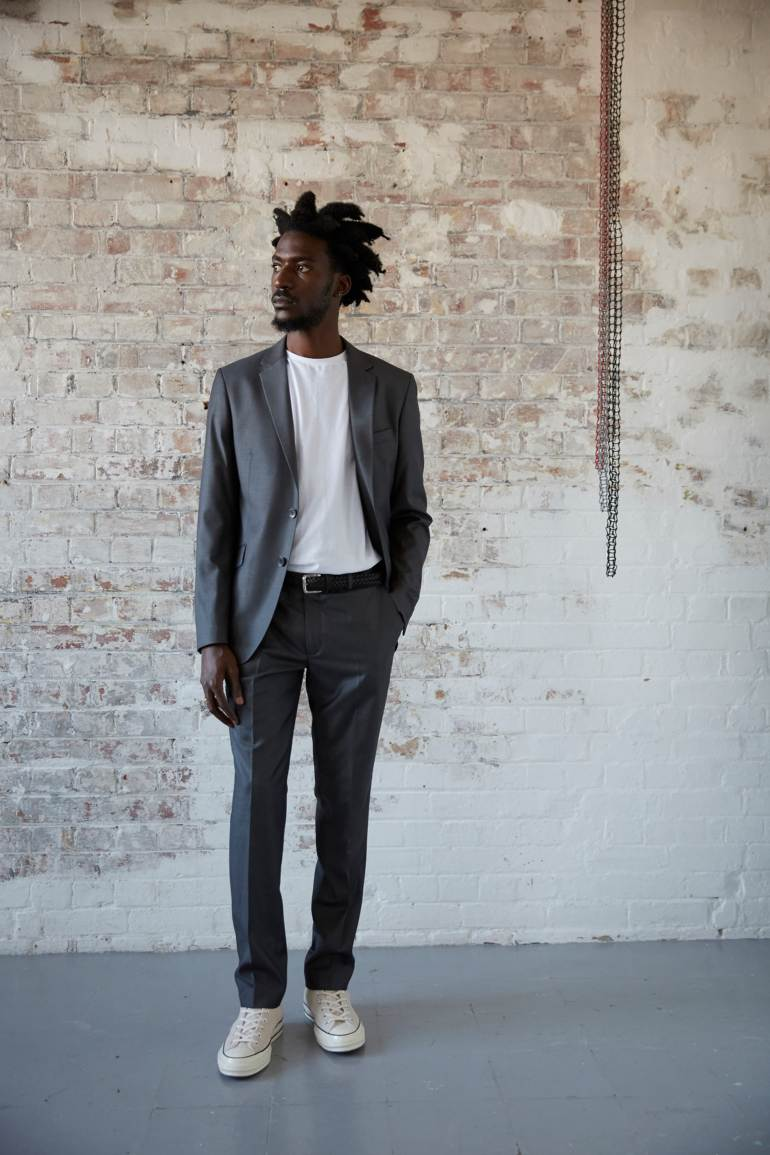 Tailoring at the idle man casual converse suit blazer