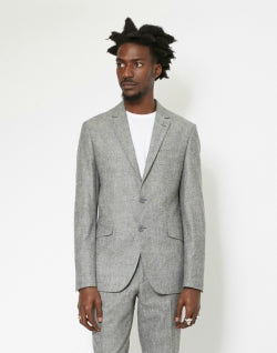 The-Idle-MAn Pure Wool Tweed Blazer Grey