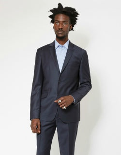 The Idle Man Slim Fit Wool Suit Jacket Navy