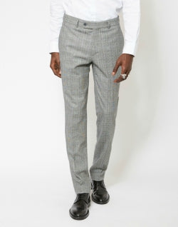 The Idle Man Slim Price Of Wales Check Pure Wool Suit Trousers