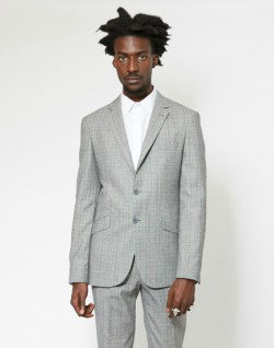 The-Idle-Man-Slim Prince Of Wales Check Pure Wool Suit Jacket
