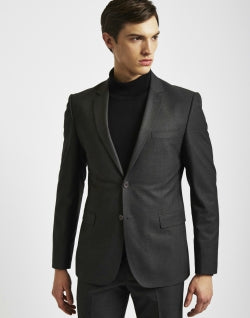 THE IDLE MAN Suit Jacket in Slim Fit-Grey mens