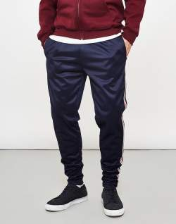 The Idle Man navy joggers contrast stripe