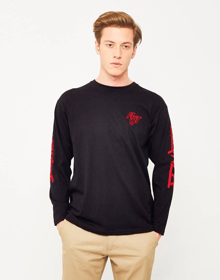 The Idle Man red Printed T shirt