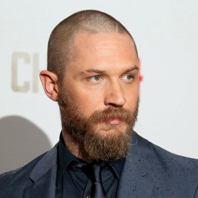 Tom hardy buzz cut and beard for men