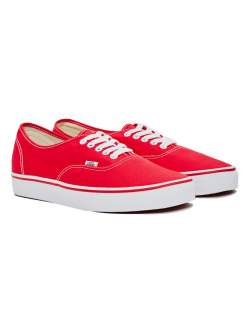 mens vans authentic trainer red