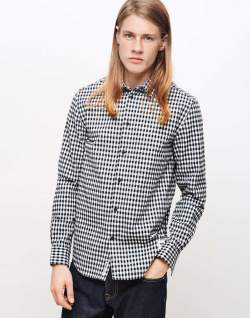 mens wood wood greco shirt check