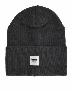 WOOD WOOD Tall Beanie-Grey