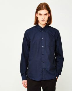 WOOD WOOD mens Timothy Shirt Navy