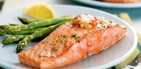 Salmon & Asparagus recipe from Perfect Cellar