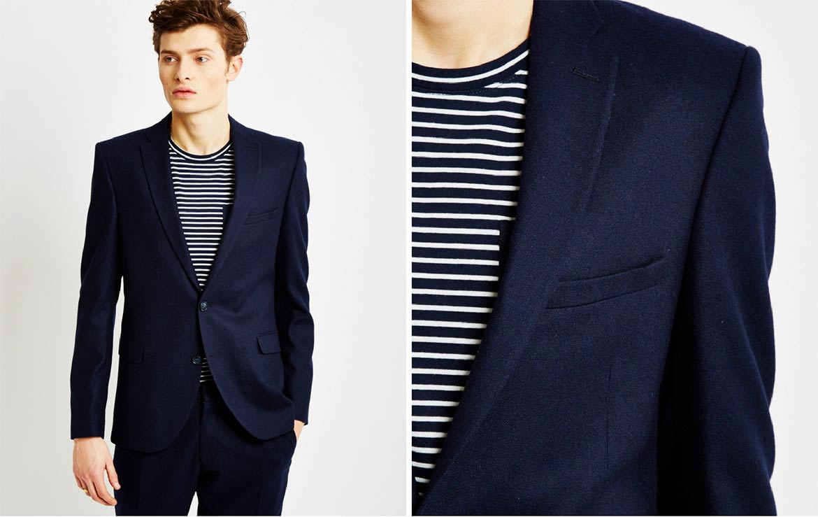 the idle man navy suit