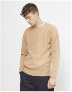YMC Suedehead Brushed Crew Tan Mens
