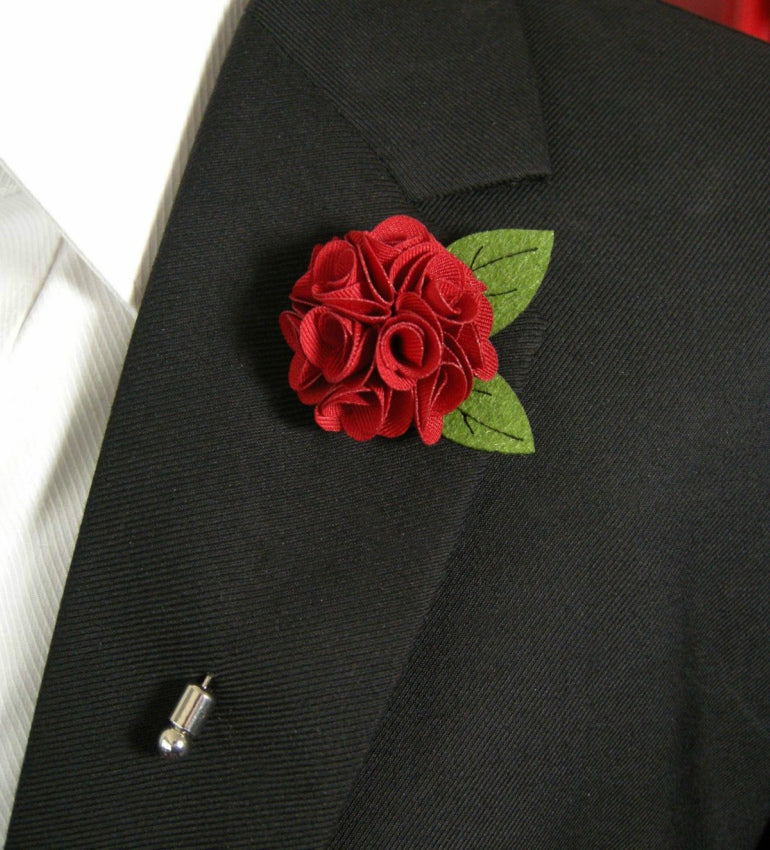 a mens flower lapel pin