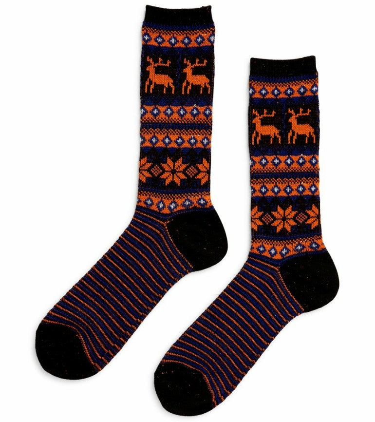 anonymous_ism_christmas_deer_crew_sock_charcoal_grey