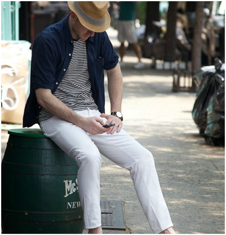 white jeans summer style mens