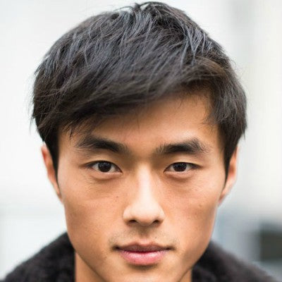 asian men hair types straight black hair for men