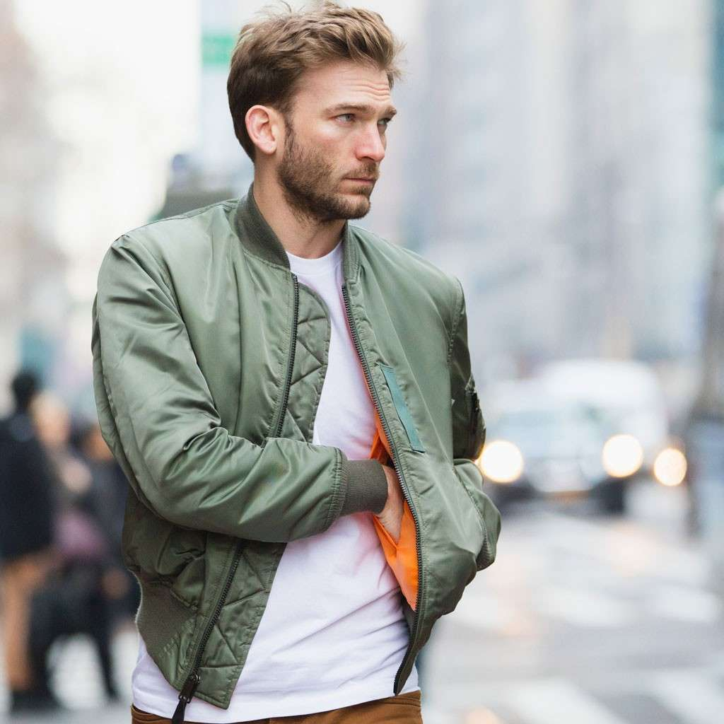 how to wear a bomber jacket men