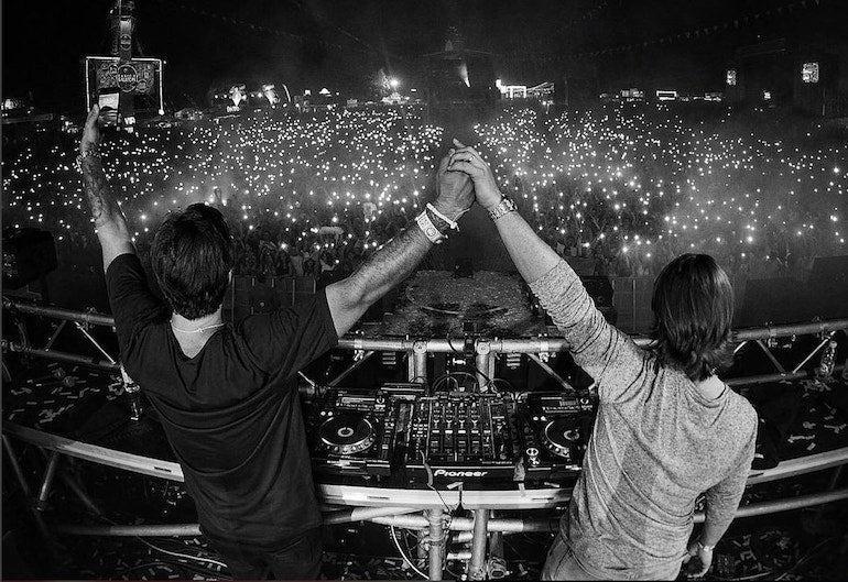 axwell and ingrosso sold out show mens street style